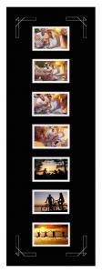 Passepartout Svart 30x91 cm - Collage 7 Bilder (9x14 cm)