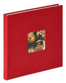 Fun Album Röd - 26x25 cm (40 Vita sidor / 20 blad)