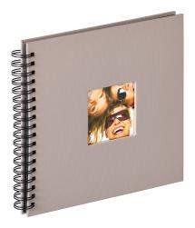 Fun Spiralalbum Grå - 26x25 cm (40 Svarta sidor / 20 blad)
