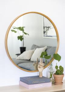 Spegel Bambu 80 cm Ø