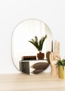 KAILA Spegel Oval Dark Bronze 30x40 cm