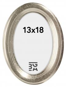 Molly Oval Silver 13x18 cm