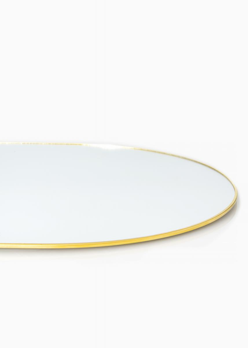 KAILA Oval Mirror - Thin Brass 35x80 cm
