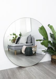 Spegel Antikmässing 110 cm ø