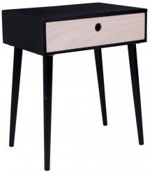 Sängbord Parma 32x45 cm - Svart/Trä