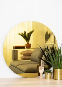 KAILA Rund Spegel Gold 80 cm Ø