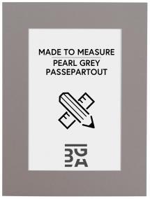 Passepartout Grå - Måttbeställd (Vit kärna)