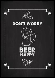 Don´t worry beer happy Poster