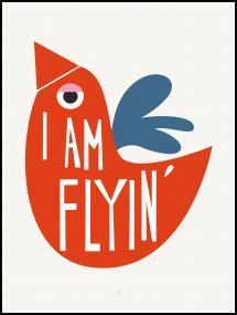 I Am Flying - Red Poster