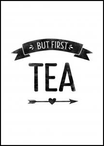 But first tea Retro Poster