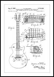 Patentritning - Elgitarr I Poster