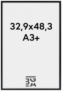 Edsbyn Svart 32,9x48,3 cm (A3+)