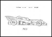 Patentritning - Batman - Batmobile 1990 III Poster