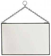 Spegel Brick Svart 30x20 cm