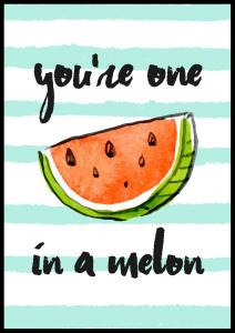 You´re one in a melon Poster