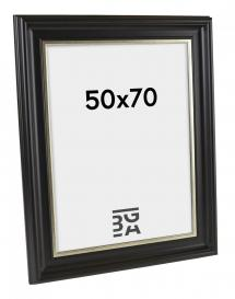 Ram Dalarna Svart-Silver 50x70 cm