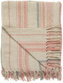 Pläd Stripes - Natur 130x160 cm