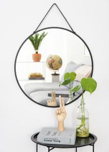 Spegel Trapani Svart 60 cm Ø
