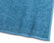 Handduk Stripe Frotté - Turkos 50x70 cm