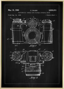 Patentritning - Kamera I - Svart Poster