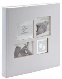 Little Foot Album Gråvit - 28x30,5 cm (60 Vita sidor / 30 blad)