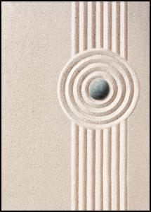 Circle Sand Poster