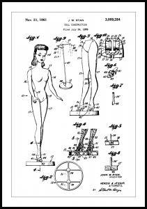Patentritning - Barbie Poster