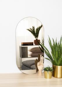 KAILA Spegel Oval Dark Bronze 35x70 cm