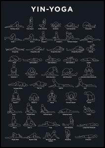Yoga - Navy Poster