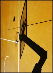 Yellow basketball court Poster