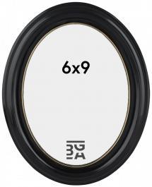 Eiri Mozart Oval Svart 6x9 cm