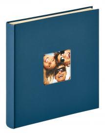 Fun Självhäftande Blå - 33x34 cm (50 Vita sidor / 25 blad)