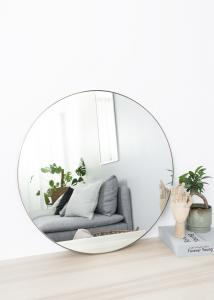 Spegel Antikmässing 70 cm ø