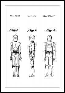 Patentritning - Star Wars - C-3PO Poster