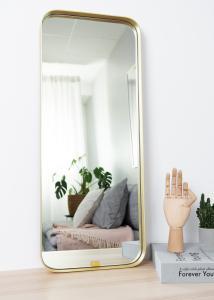 Spegel Square Mässing 31x76 cm
