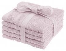 Tvättlapp Basic Frotté - Rosa 25x25 cm 5-pack