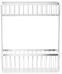 Korg Bath Dubbel 28x33,5 cm - Silver