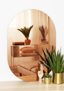 KAILA Spegel Oval Rose Gold 70x100 cm