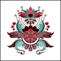 Kurbits flower red Poster