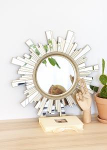 Spegel Sol 50x50 cm