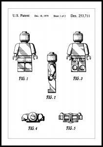 Patentritning - Lego I Poster