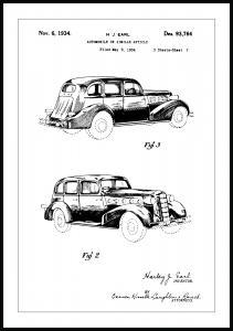 Patentritning - La Salle II Poster