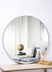 Spegel Svart 110 cm ø
