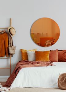 Spegel Slim Orange 90 cm Ø