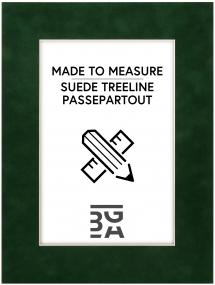 Passepartout Suede Treeline - Måttbeställd
