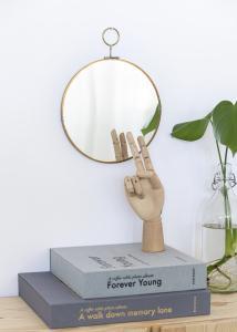 Spegel House Doctor Loop Mässing 22 cm Ø