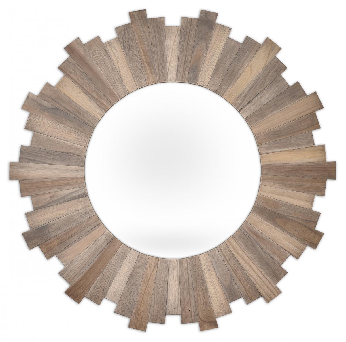 rund spegel trä