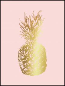 Pineapple Gold 30x40 cm Poster