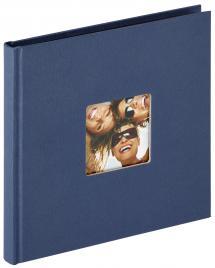 Fun Album Blå - 18x18 cm (30 Svarta sidor / 15 blad)
