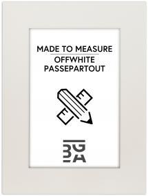 Passepartout Offwhite (Vit kärna) - Måttbeställd